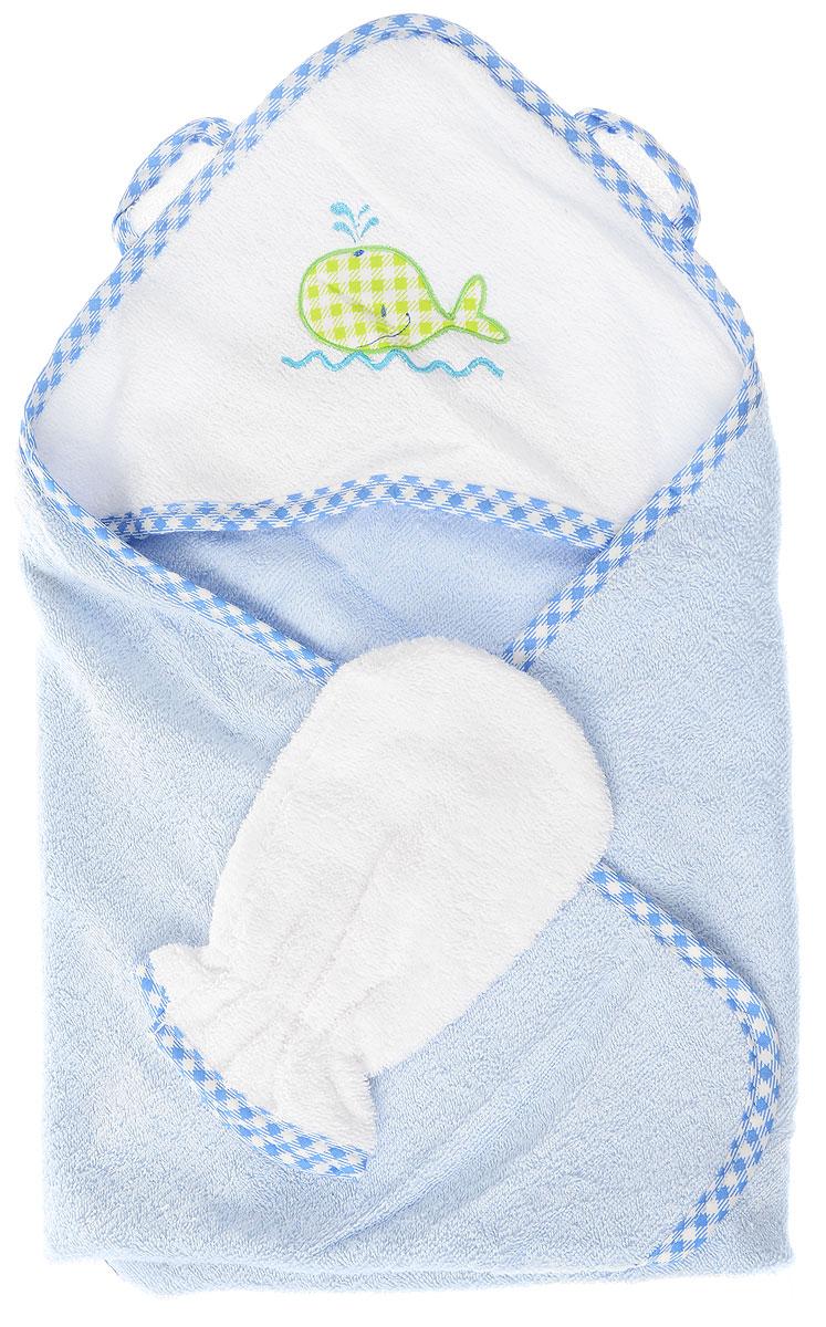 Фея Комплект для купания Кит цвет голубой белый 2 предмета