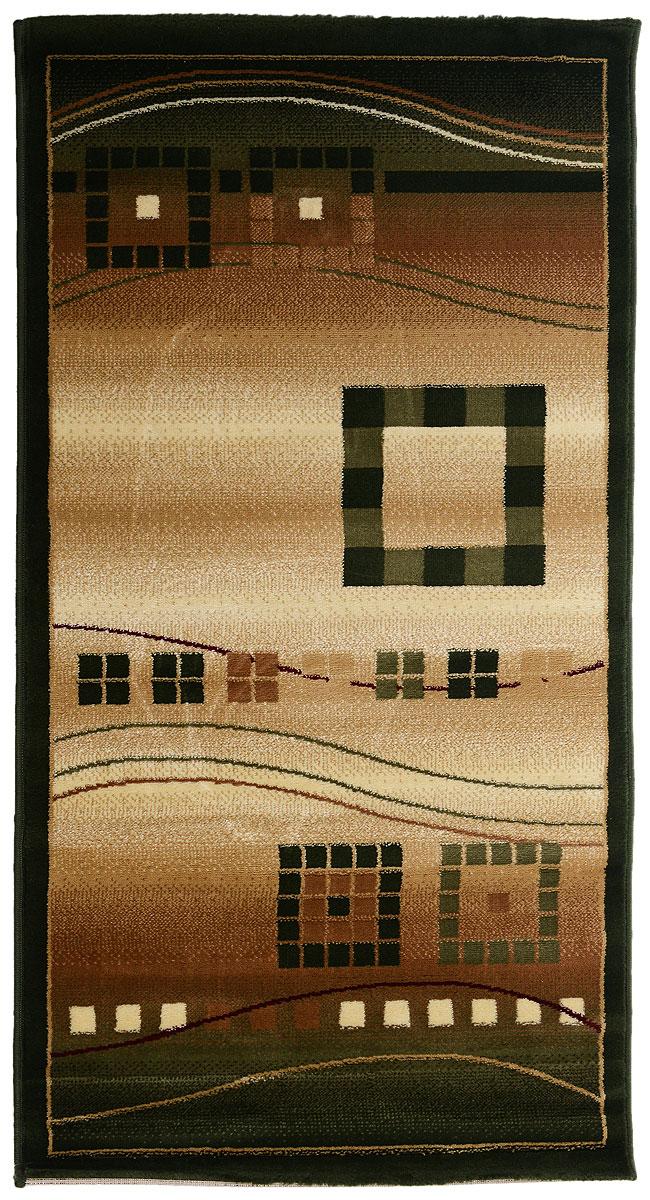 Ковер Kamalak Tekstil, прямоугольный, 80 x 150 см. УК-0078УК-0078Ковер Kamalak Tekstil изготовлен из прочного синтетического материала heat-set, улучшенного варианта полипропилена (эта нить получается в результате его дополнительной обработки). Полипропилен износостоек, нетоксичен, не впитывает влагу, не провоцирует аллергию. Структура волокна в полипропиленовых коврах гладкая, поэтому грязь не будет въедаться и скапливаться на ворсе. Практичный и износоустойчивый ворс не истирается и не накапливает статическое электричество. Ковер обладает хорошими показателями теплостойкости и шумоизоляции. Оригинальный рисунок позволит гармонично оформить интерьер комнаты, гостиной или прихожей. За счет невысокого ворса ковер легко чистить. При надлежащем уходе синтетический ковер прослужит долго, не утратив ни яркости узора, ни блеска ворса, ни упругости. Самый простой способ избавить изделие от грязи - пропылесосить его с обеих сторон (лицевой и изнаночной). Влажная уборка с применением шампуней и моющих средств не противопоказана. ...