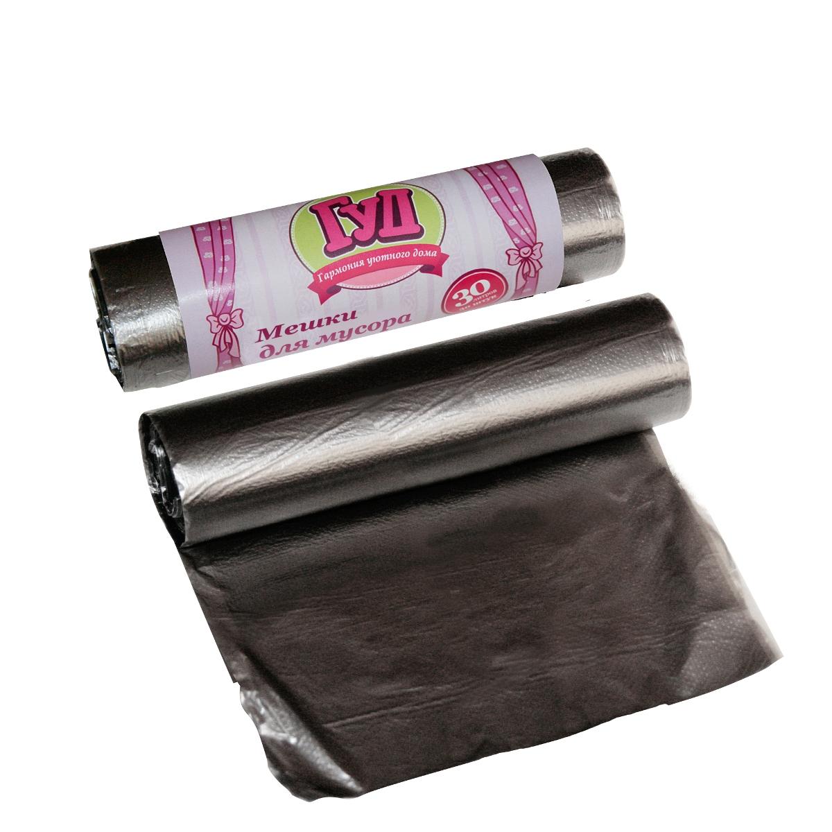 Мешки для мусора Гуд, цвет: черный, 30 л, 30 шт8.1
