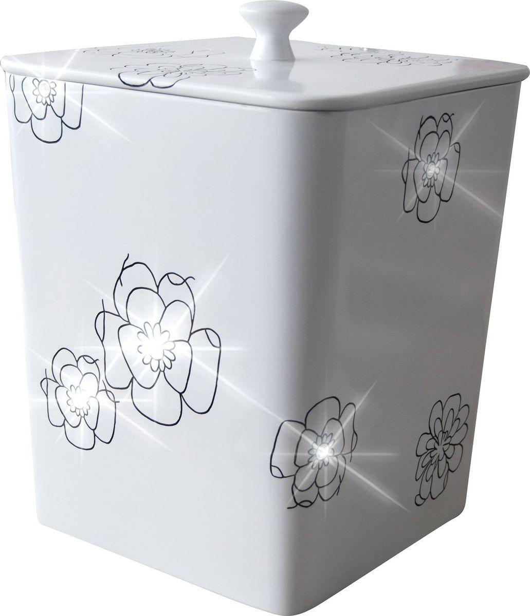 Ведро мусорное Ridder Diamond, цвет: белый, 8,5 лES-412Высококачественные немецкие аксессуары для ванных комнат. Данная серия изготавливается из полирезина. Экологичный полирезин - это твердый многокомпонентный материал на основе синтетической смолы,с добавлением каменной крошки и красящих пигментов Объем: 8,5 л.