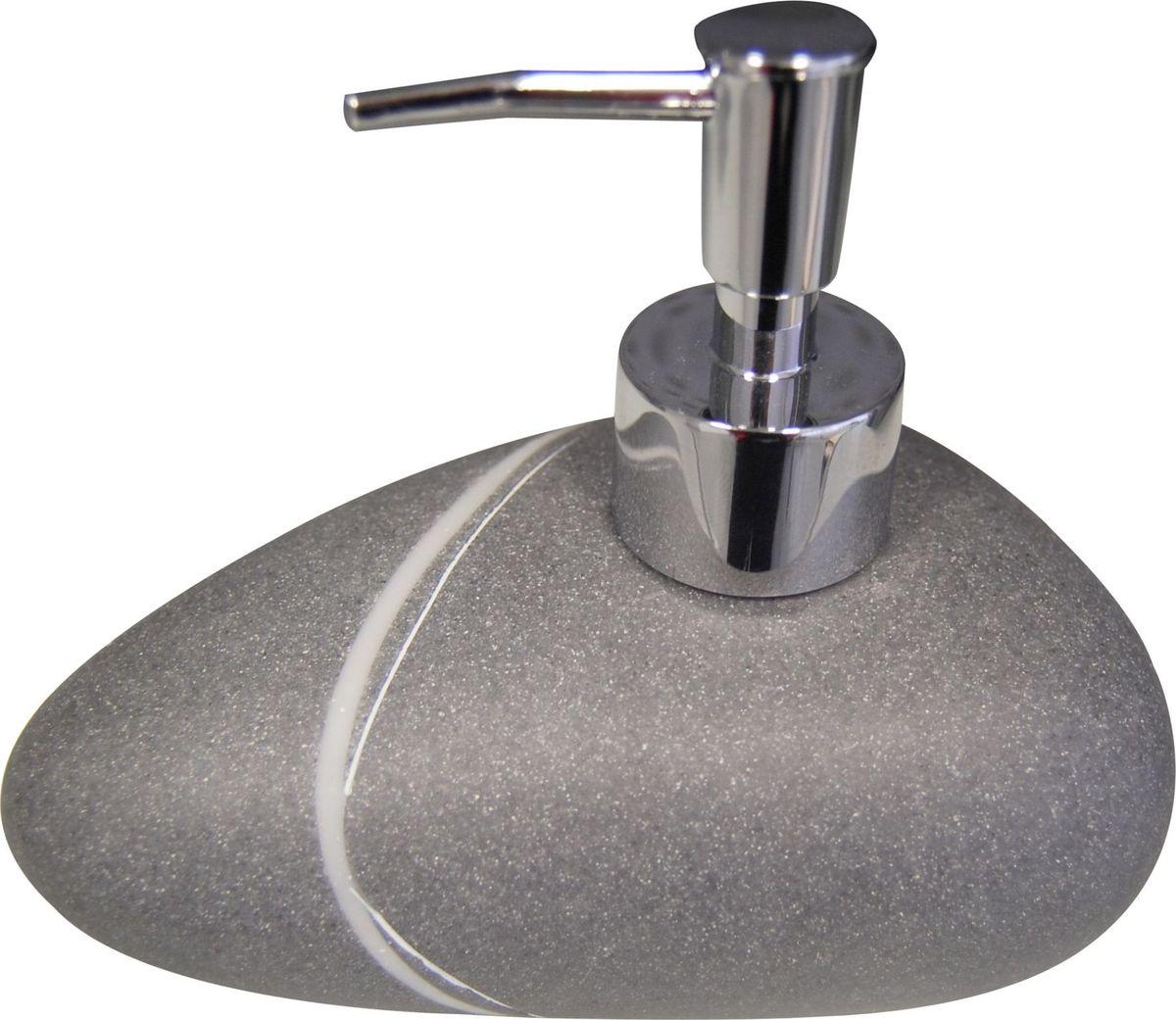 Дозатор для жидкого мыла Ridder Little Rock, цвет: серый22190507Изделия данной серии устойчивы к ультрафиолету, т.к. изготавливаются из полирезины. Экологичная полирезина - это твердый многокомпонентный материал на основе синтетической смолы, с добавлением каменной крошки и красящих пигментов. Объем: 200 мл.