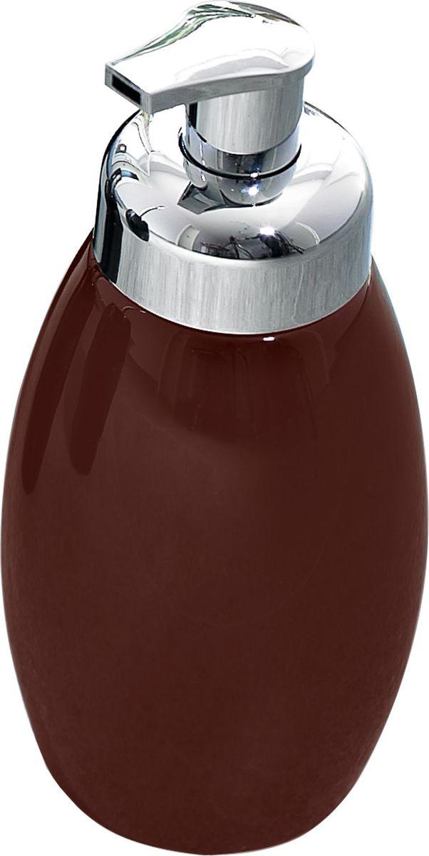 Дозатор для жидкого мыла Ridder Shiny, цвет: коричневый22230508Серия Shiny изготавливается из высококачественной керамики и покрывается слоем экологичного лака. Изделия устойчивы к ультрафиолету. Объём: 500 мл.