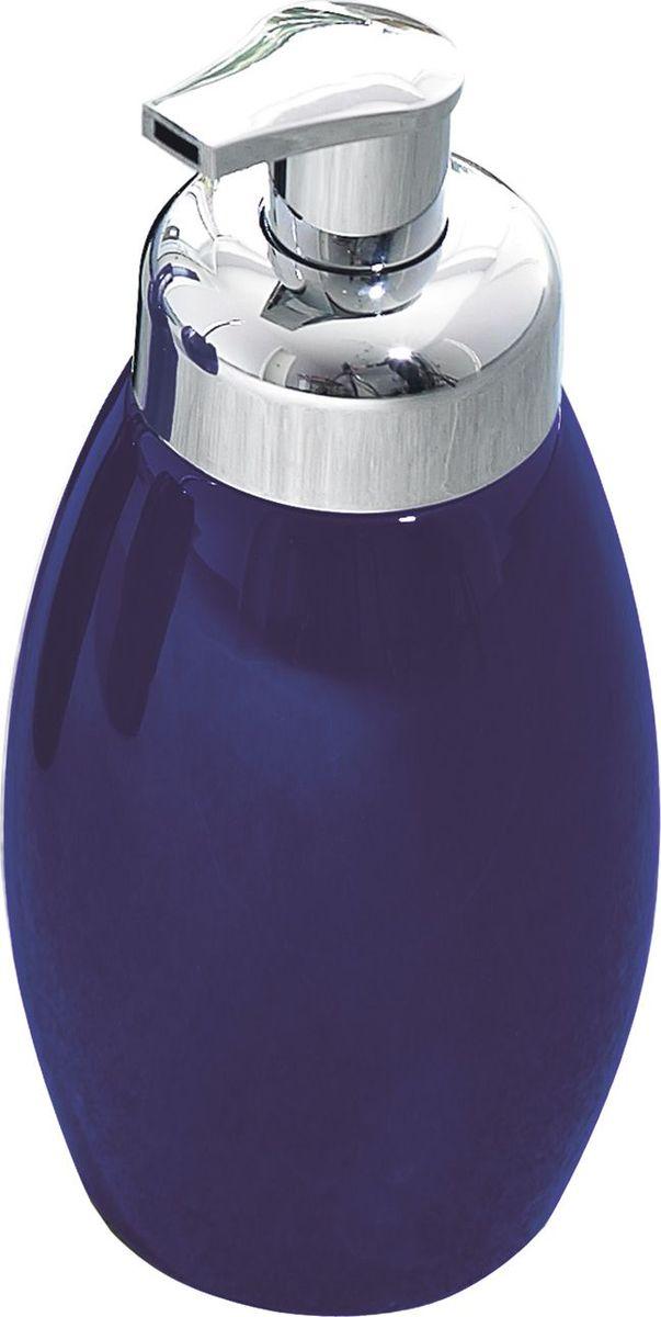 Дозатор для жидкого мыла Ridder Shiny, цвет: синий22230533Серия Shiny изготавливается из высококачественной керамики и покрывается слоем экологичного лака. Изделия устойчивы к ультрафиолету. Объём: 500 мл.