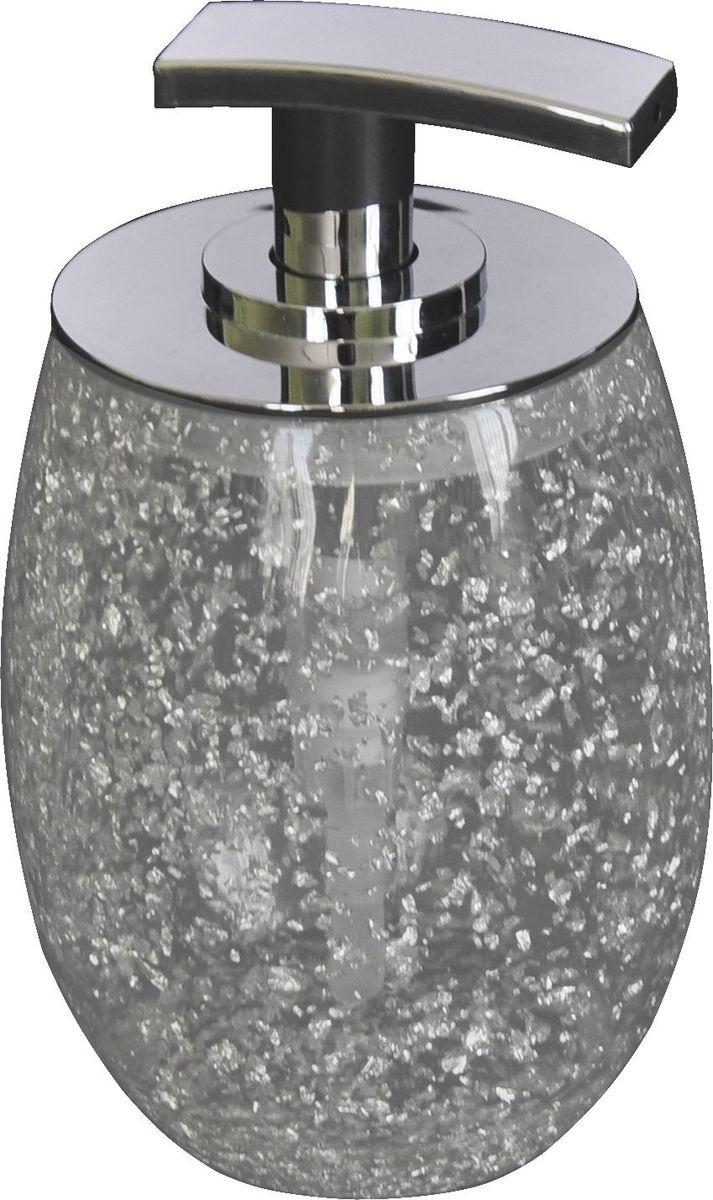 Дозатор для жидкого мыла Ridder Danzig, цвет: серебряный22260527Изделия данной серии устойчивы к ультрафиолету, т.к. изготавливаются из добротной полирезины. Экологичная полирезина - это твердый многокомпонентный материал на основе синтетической смолы, с добавлением каменной крошки и красящих пигментов.