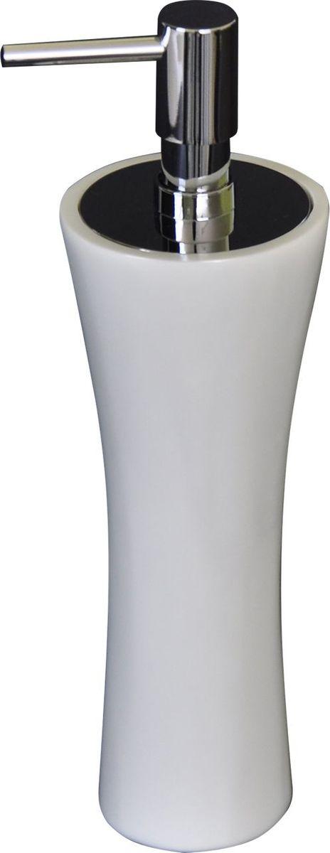 Дозатор для жидкого мыла Ridder Lady, цвет: белый22270501Дозатор для жидкого мыла Ridder Lady, изготовленный из экологичного полирезина, отлично подойдет для вашей ванной комнаты. Такой аксессуар очень удобен в использовании, достаточно лишь перелить жидкое мыло в дозатор, а когда необходимо использование мыла, легким нажатием выдавить нужное количество. Изделие устойчиво к ультрафиолету. Дозатор для жидкого мыла Ridder Lady создаст особую атмосферу уюта и максимального комфорта в ванной.
