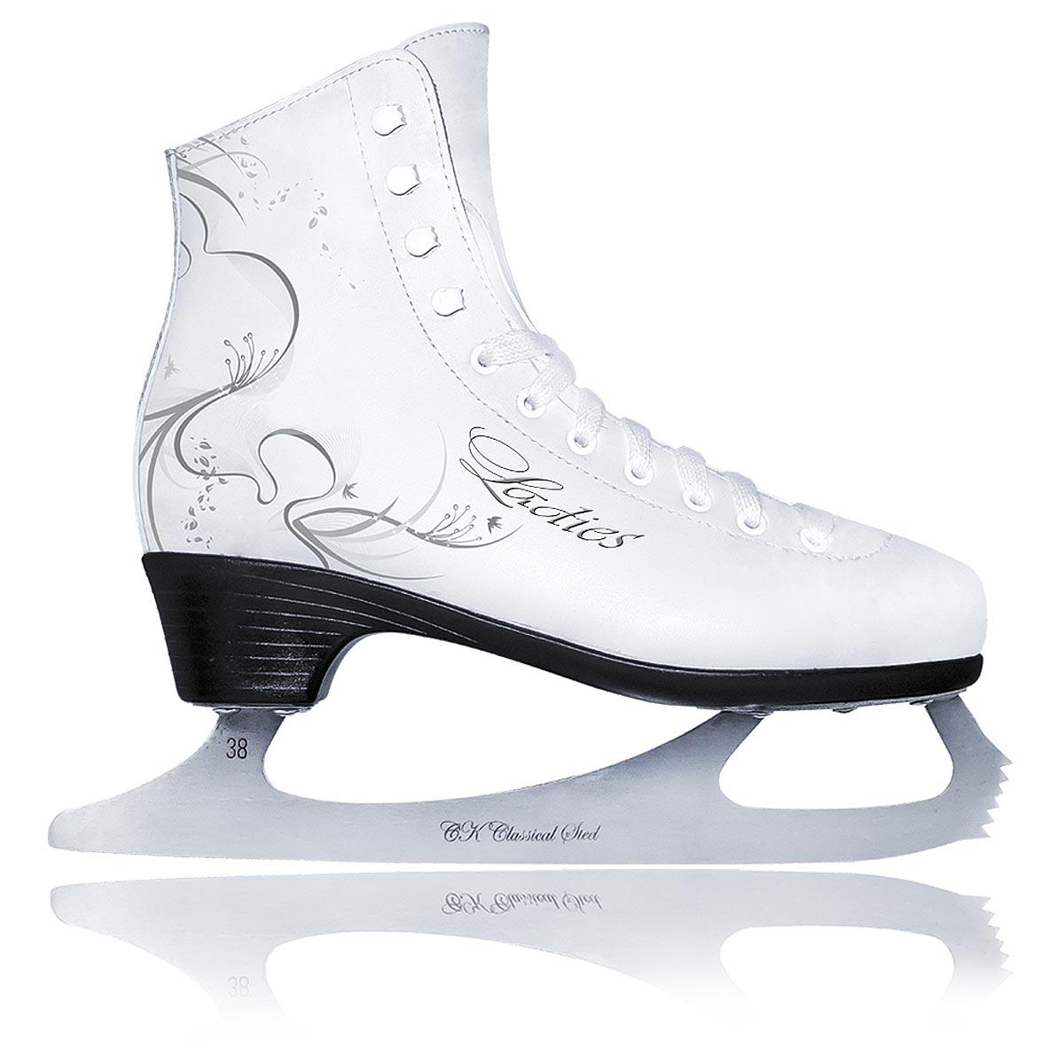 Коньки фигурные женские СК Ladies Lux Leather, цвет: белый. Размер 40LADIES LUX leather_белый_40