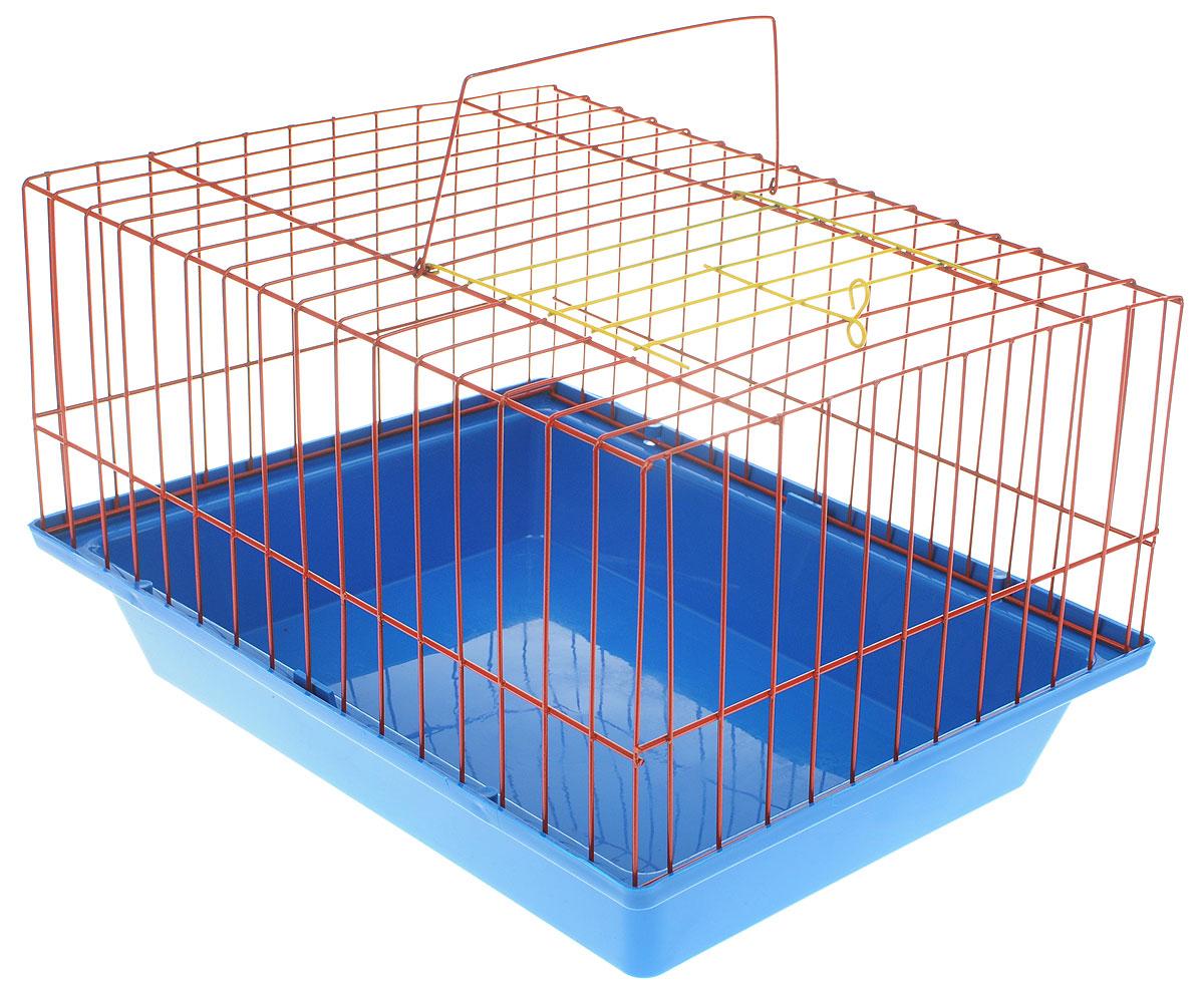 Клетка для морской свинки ЗооМарк, цвет: синий поддон, красная решетка, 41 х 30 х 25 см210_синий, красныйКлетка ЗооМарк, выполненная из полипропилена и металла, подходит для морских свинок и других грызунов. Клетка имеет яркий поддон, удобна в использовании и легко чистится. Сверху имеется ручка для переноски. Такая клетка станет личным пространством и уютным домиком для вашего питомца.