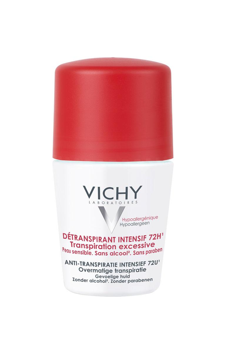 Vichy Дезодорант-антистресс 72 часа защиты, 50 млБ63003 мятаЗащищает от избыточного потоотделения в стрессовых ситуациях 72 часа. Эффективность усиливается с каждым применением.