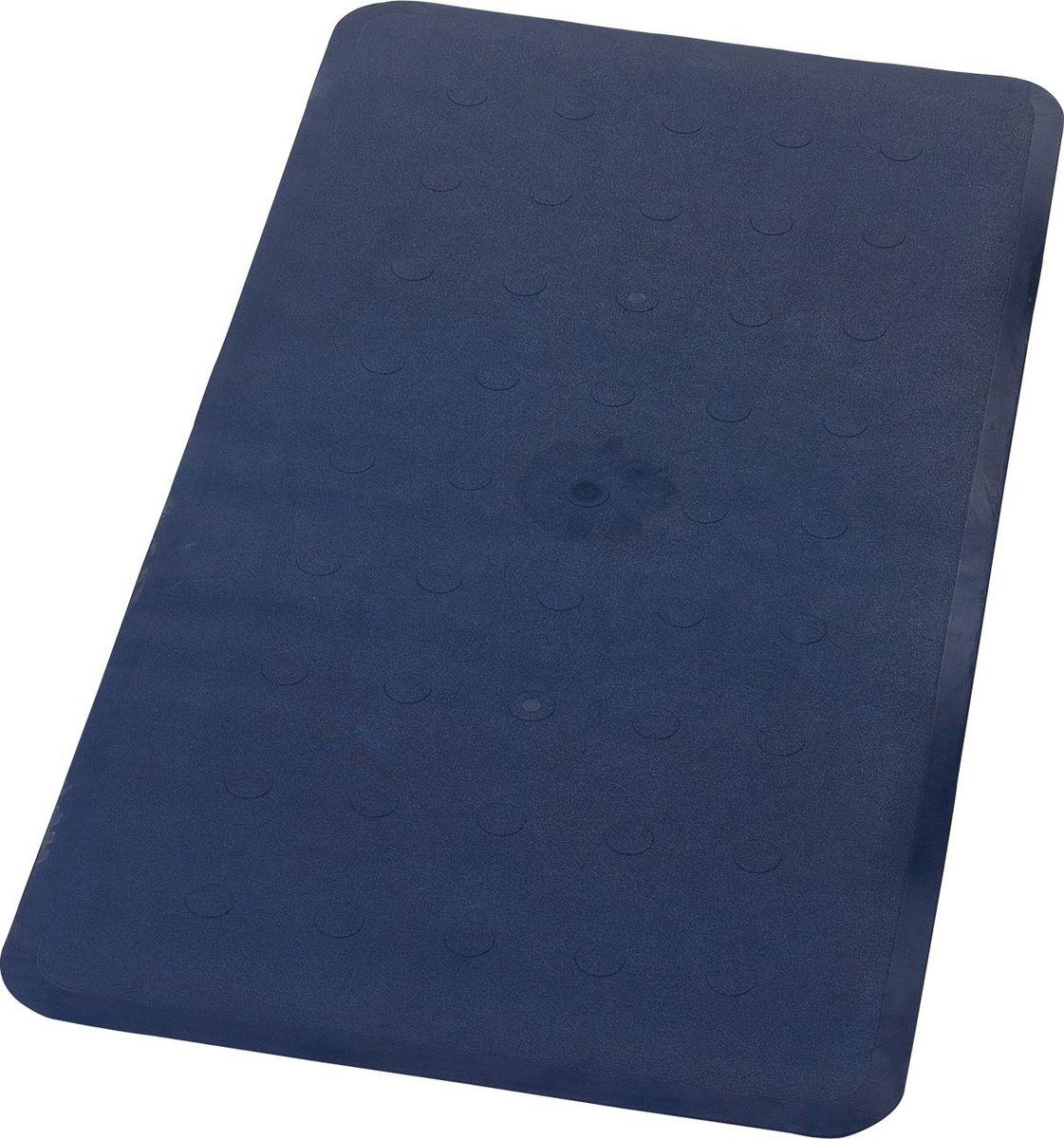 Коврик для ванной Ridder Basic, противоскользящий, на присосках, цвет: синий, 36 х 71 см коврик для ванной ridder park противоскользящий на присосках цвет бежевый 54 х 54 см
