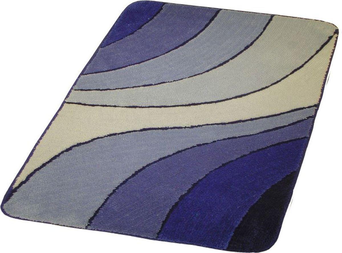 Коврик для ванной Ridder Portofino, цвет: синий, голубой, 55 х 85 см коврик для ванной ridder grand prix цвет белый синий 55 х 85 см