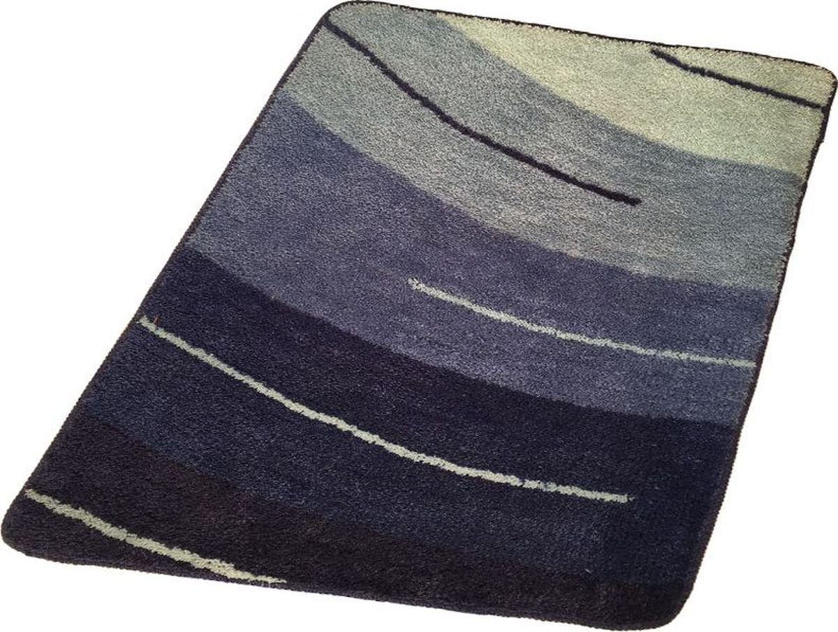 Коврик для ванной Ridder Wall, цвет: синий, голубой, 60 х 90 см коврик для ванной ridder grand prix цвет белый синий 55 х 85 см