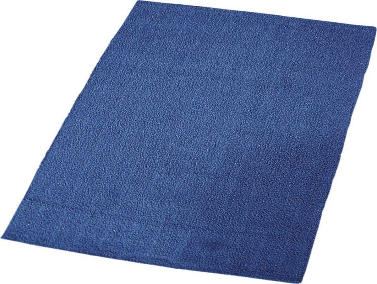 Коврик для ванной Ridder Solid, двухсторонний, цвет: синий, голубой, 55 х 85 см коврик для ванной ridder grand prix цвет белый синий 55 х 85 см