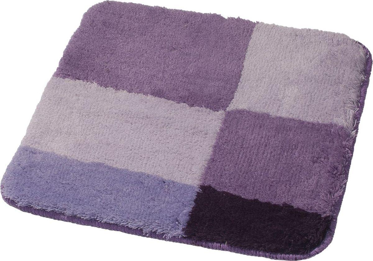 Коврик для ванной Ridder Pisa, цвет: сиреневый, фиолетовый, 55 х 50 см коврик для ванной ridder grand prix цвет белый синий 55 х 85 см