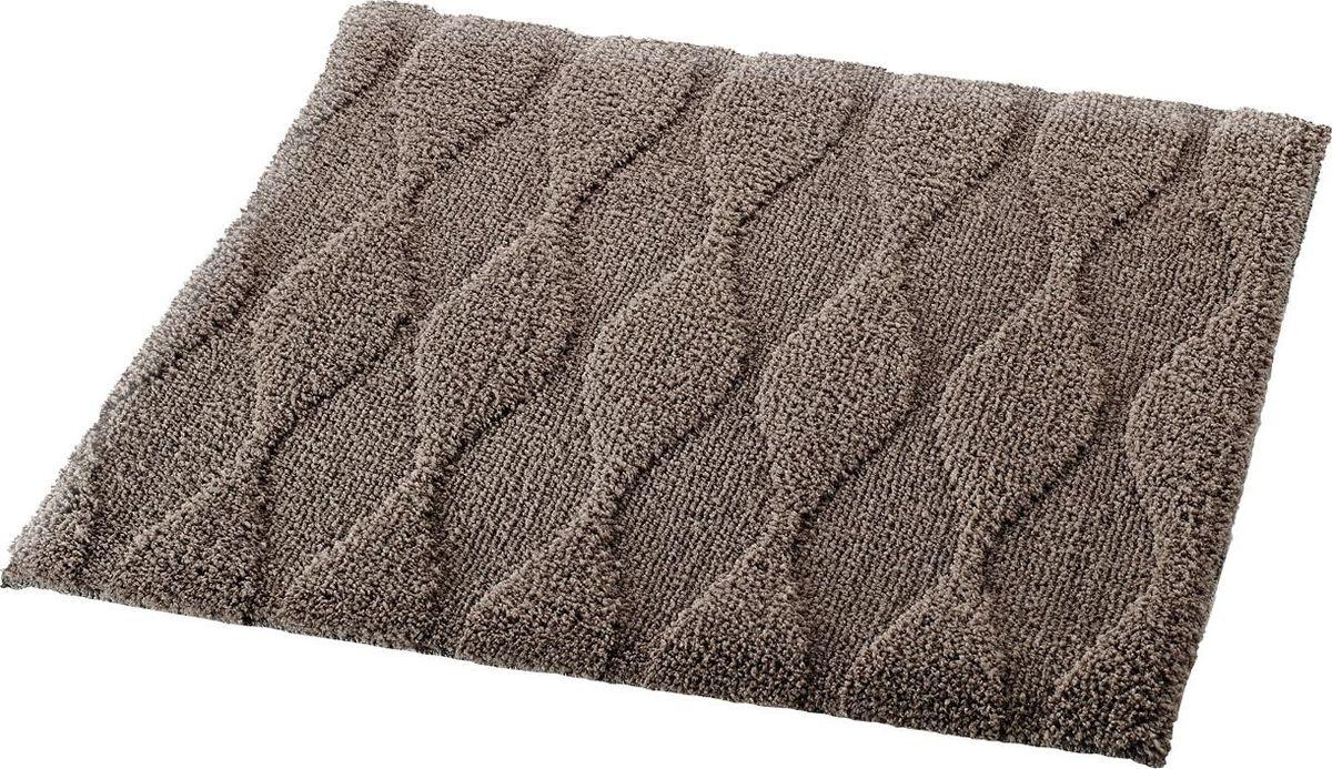 Коврик для ванной Ridder Melange, цвет: коричневый, 55 х 50 см коврик для ванной ridder grand prix цвет белый синий 55 х 85 см