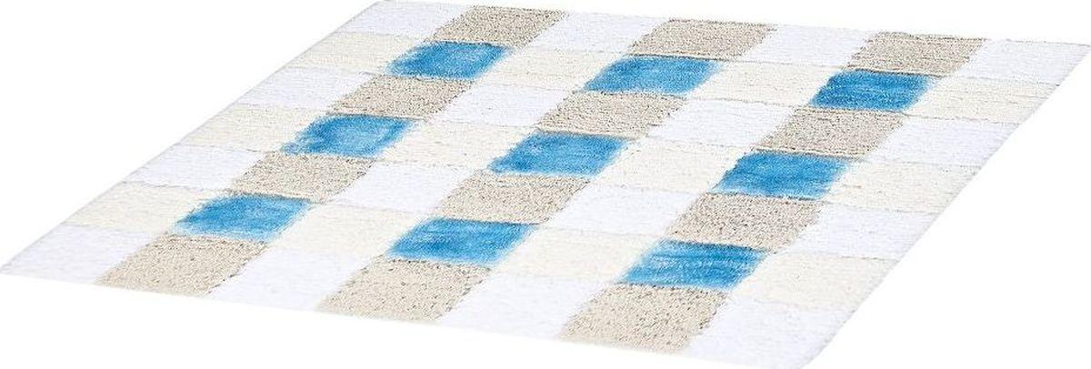 Коврик для ванной Ridder Carre, цвет: синий, голубой, 55 х 50 см коврик для ванной ridder grand prix цвет белый синий 55 х 85 см