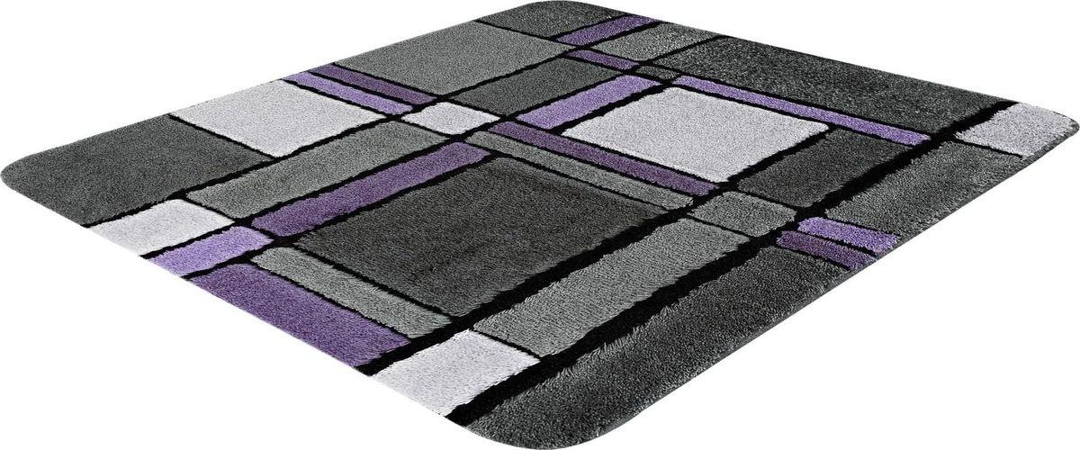 Коврик для ванной Ridder Gravure, цвет: фиолетовый, серый, 55 х 50 см коврик для ванной ridder grand prix цвет белый синий 55 х 85 см