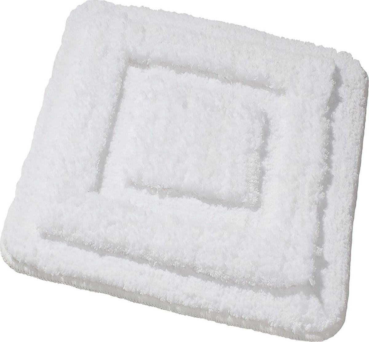 Коврик для ванной Ridder Juwel, цвет: белый, 55 х 50 см коврик для ванной ridder grand prix цвет белый синий 55 х 85 см