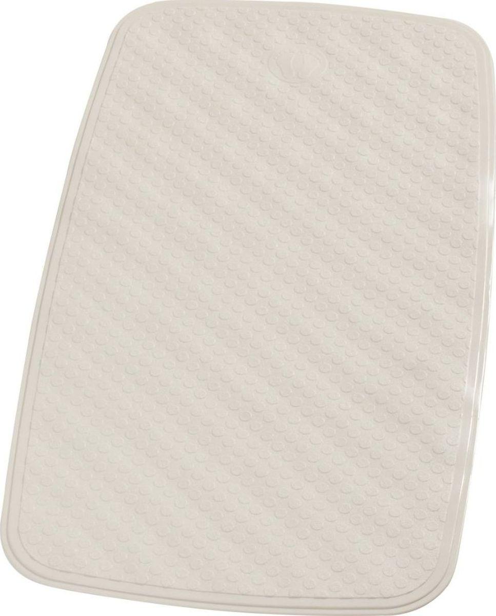 Коврик для ванной Ridder Capri, противоскользящий, на присосках, цвет: светло-бежевый, 38 х 72 см коврик для ванной ridder park противоскользящий на присосках цвет бежевый 54 х 54 см