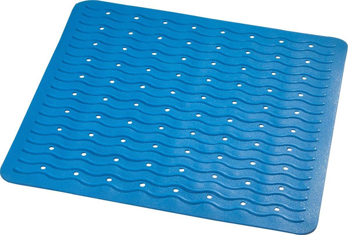 Коврик для ванной Ridder Playa, противоскользящий, на присосках, цвет: голубой, 54 х 54 см коврик для ванной ridder park противоскользящий на присосках цвет бежевый 54 х 54 см