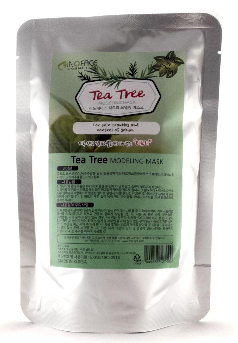 Inoface Альгинатная маска с чайным деревом для проблемной кожи с акне и черными точками, 200 г2700000001028_нов.дизайнАльгинатная маска с экстрактом чайного дерева эффективна при лечении угревой сыпи, гнойничков и прочих воспалительных процессов кожи. Экстракт чайного дерева - это идеальное антисептическое, противовоспалительное средство, которое дезинфицирует кожу и помогает ликвидировать акне. Маска лечит угревую сыпь, воспаления, другие повреждения кожного покрова лица, она сокращает поры кожи, уменьшая их рельеф. Маска снизит активность сальных желез, уберет жирный блеск и сделает кожу матовой.