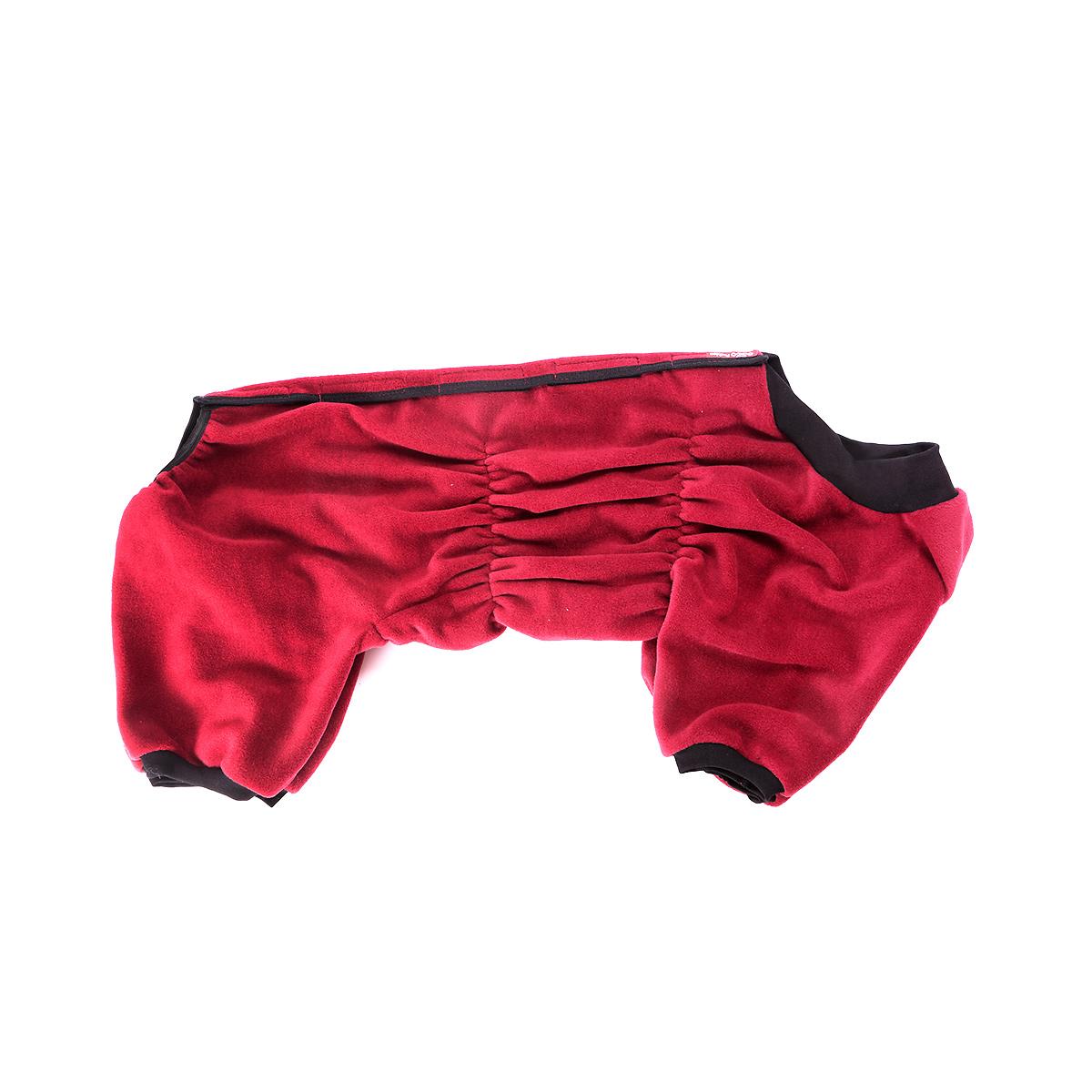 Комбинезон для собак OSSO Fashion, для девочки, цвет: бордовый. Размер 37Кф-1011Комбинезон для собак OSSO Fashion выполнен из флиса. Комфортная посадка по корпусу достигается за счет резинок-утяжек под грудью и животом. На воротнике имеются завязки, для дополнительной фиксации. Можно носить самостоятельно и как поддевку под комбинезон для собак. Изделие отлично стирается, быстро сохнет. Длина спинки: 37 см. Объем груди: 50-60 см.
