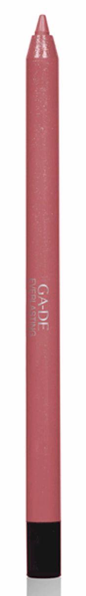 GA-DE Карандаш для губ Everlasting, тон № 87, 0,5 г002722Плотная силиконовая текстура. Матовые и глянцевые оттенки. Устойчивая формула. Аргановое масло защищает кожу губ и обеспечивает мягкое и комфортное нанесение. Силиконовый карандаш корректирует контур губ. Он проводит чуть матовую линию, заполняет собой морщинки и не дает помаде или блеску растекаться. Хорошо подходят для использования летом и во время отпуска, так как не будет растекаться под воздействием солнца и жары.