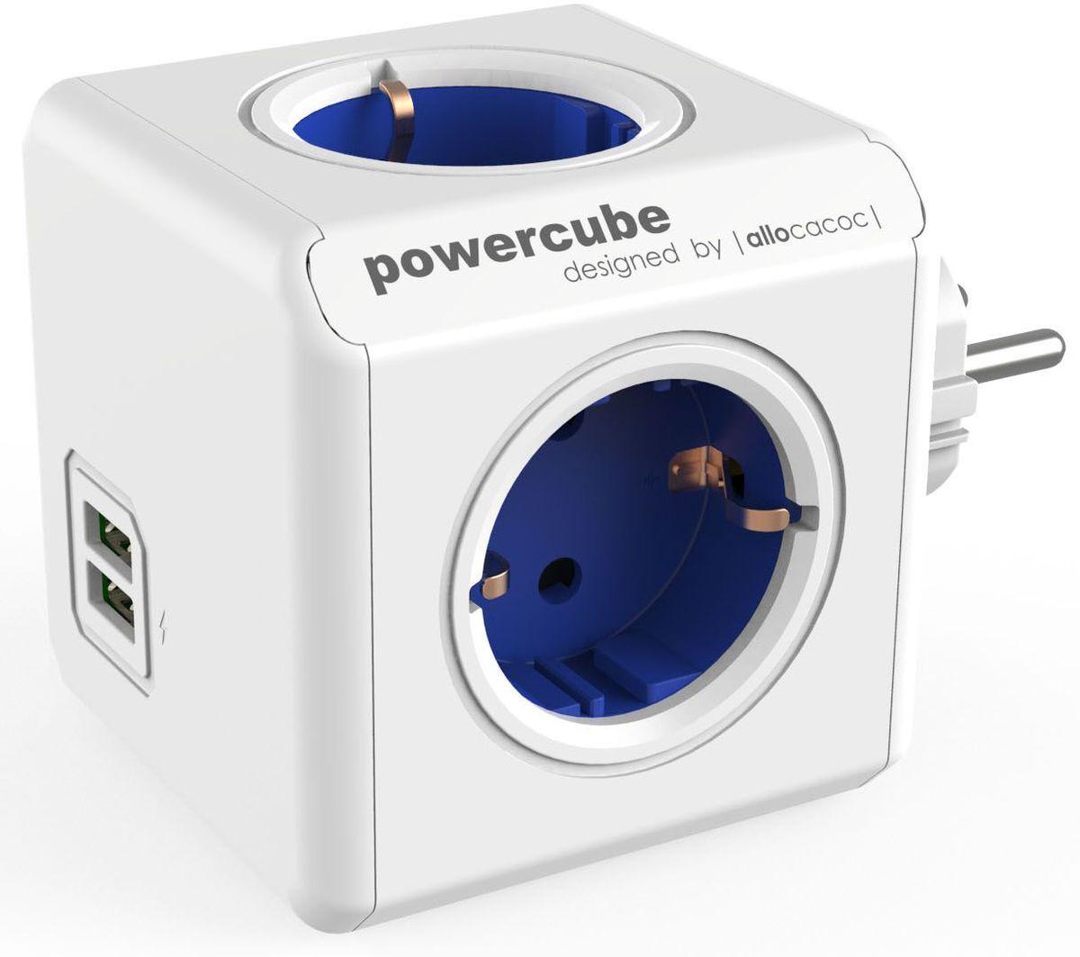 Allocacoc PowerCube Original USB, Blue сетевой разветвитель 1202BL/DEOUPC