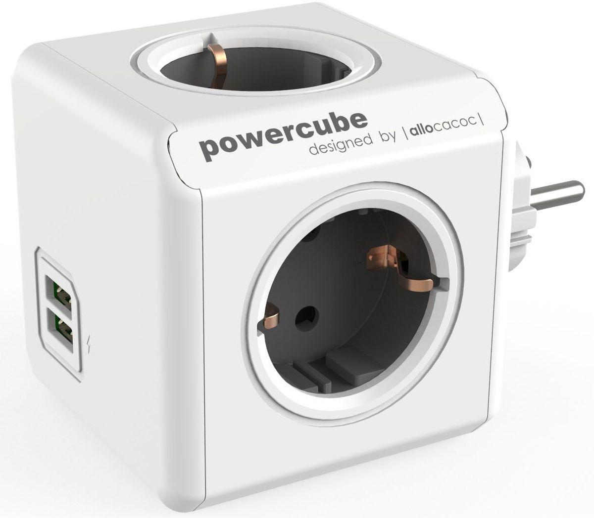 Allocacoc PowerCube Original USB, Grey сетевой разветвитель1202GY/DEOUPCРазветвитель Allocacoc PowerCube Original USB это самая популярная версия PowerCube. Наличие 1,5 (3-х) метрового шнура позволяет установить PowerCube в любом месте, располагая розетку в пределах досягаемости, больше нет необходимости лезть под стол, чтобы подключить Ваш ноутбук! PowerCube содержит USB- порт что позволяет заряжать широкий спектр устройств. Находясь в офисе, дома, на совещании или еще где-нибудь, бывает трудно найти свободную розетку для зарядки ноутбука или мобильного телефона. PowerCube решил эту проблему: количество розеток можно расширить, что позволит монтировать индивидуальный источник питания в пределах досягаемости.