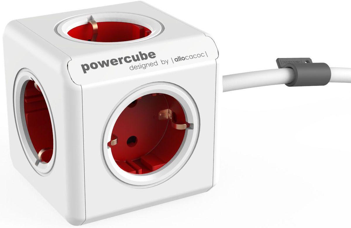 Allocacoc PowerCube Extended, Red сетевой разветвитель1300RD/DEEXPCAllocacoc PowerCube Extended - сетевой разветвитель со стильным дизайном, который включает в себя кабель и пять розеток. Данная версия PowerCube, оснащенная креплением, может быть установлена в любом месте: на столе, на стене, под столешницей и т.д.
