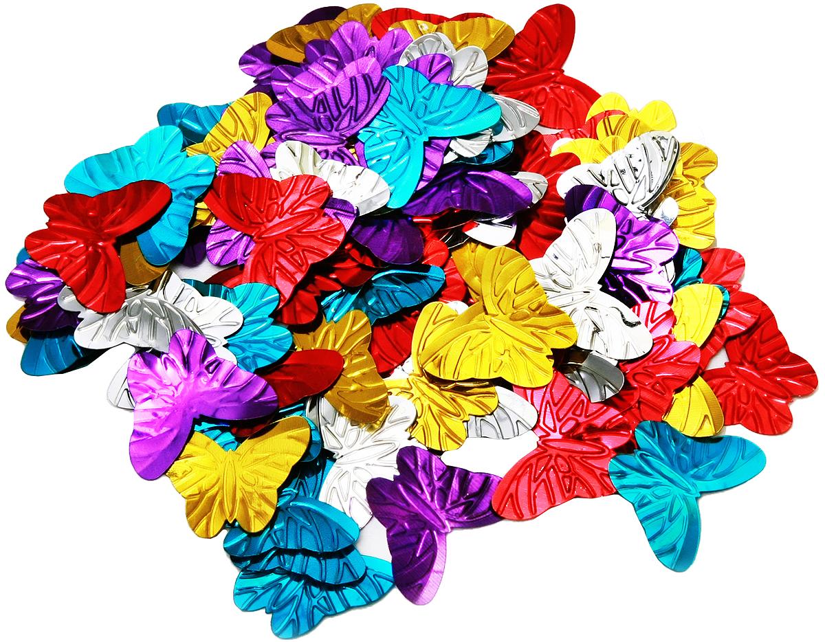 Конфетти новогоднее Magic Time Бабочки, 13 г42747Новогоднее конфетти Magic Time Бабочки выполнено из ПЭТ (полиэтилентерефталата) в форме бабочек. Конфетти создаст праздничное настроение, сделает праздник ярким и незабываемым. Новогодние украшения всегда несут в себе волшебство и красоту праздника. Создайте в своем доме атмосферу тепла, веселья и радости, украшая его всей семьей. Вес упаковки: 13 г. Размер бабочки: 3 х 2,5 см.