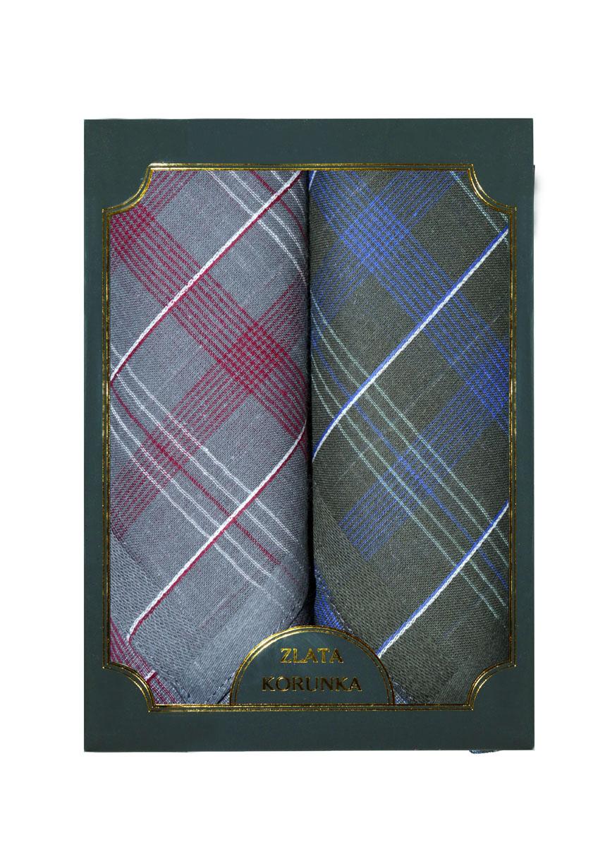 Платок носовой мужской Zlata Korunka, цвет: серый, темно-зеленый, 2 шт. 40214-5. Размер 38 см х 38 см40214-5Оригинальный мужской носовой платок Zlata Korunka изготовлен из высококачественного натурального хлопка, благодаря чему приятен в использовании, хорошо стирается, не садится и отлично впитывает влагу. Практичный и изящный носовой платок будет незаменим в повседневной жизни любого современного человека. Такой платок послужит стильным аксессуаром и подчеркнет ваше превосходное чувство вкуса. В комплекте 2 платка.