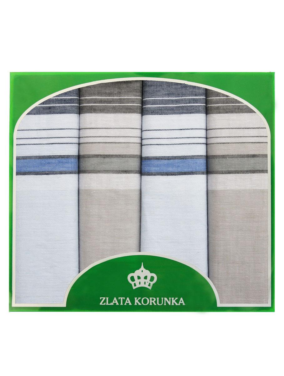 Платок носовой мужской Zlata Korunka, цвет: светло-серый, голубой. 71419-15. Размер 34 х 34 см, 4 шт39864|Серьги с подвескамиНосовой платок Zlata Korunka изготовлен из высококачественного натурального хлопка, благодаря чему приятен в использовании, хорошо стирается, не садится и отлично впитывает влагу. Практичный носовой платок будет незаменим в повседневной жизни любого современного человека. Такой платок послужит стильным аксессуаром и подчеркнет ваше превосходное чувство вкуса. В комплекте 4 платка.