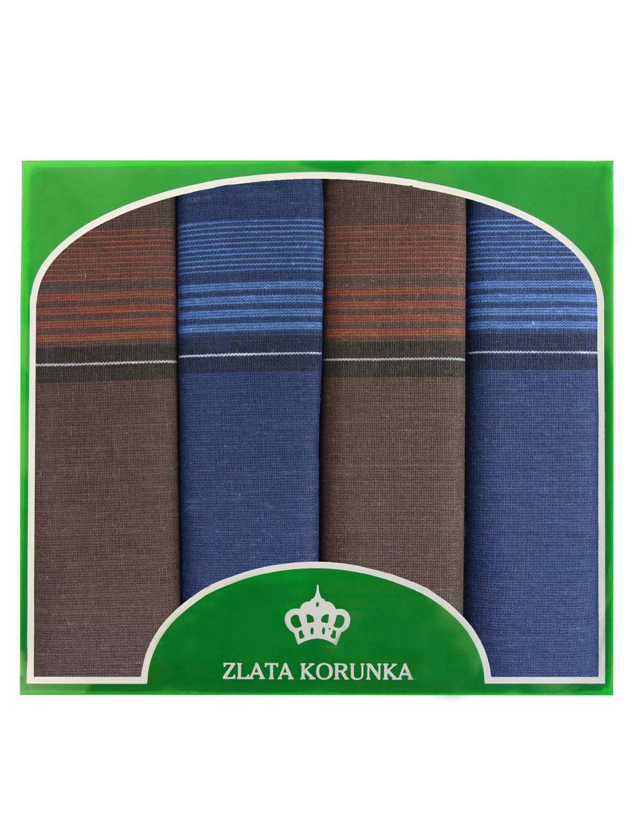 Платок носовой мужской Zlata Korunka, цвет: синий, красный. 71419-20. Размер 34 х 34 см, 4 шт71419-21Носовой платок Zlata Korunka изготовлен из высококачественного натурального хлопка, благодаря чему приятен в использовании, хорошо стирается, не садится и отлично впитывает влагу. Практичный носовой платок будет незаменим в повседневной жизни любого современного человека. Такой платок послужит стильным аксессуаром и подчеркнет ваше превосходное чувство вкуса. В комплекте 4 платка.
