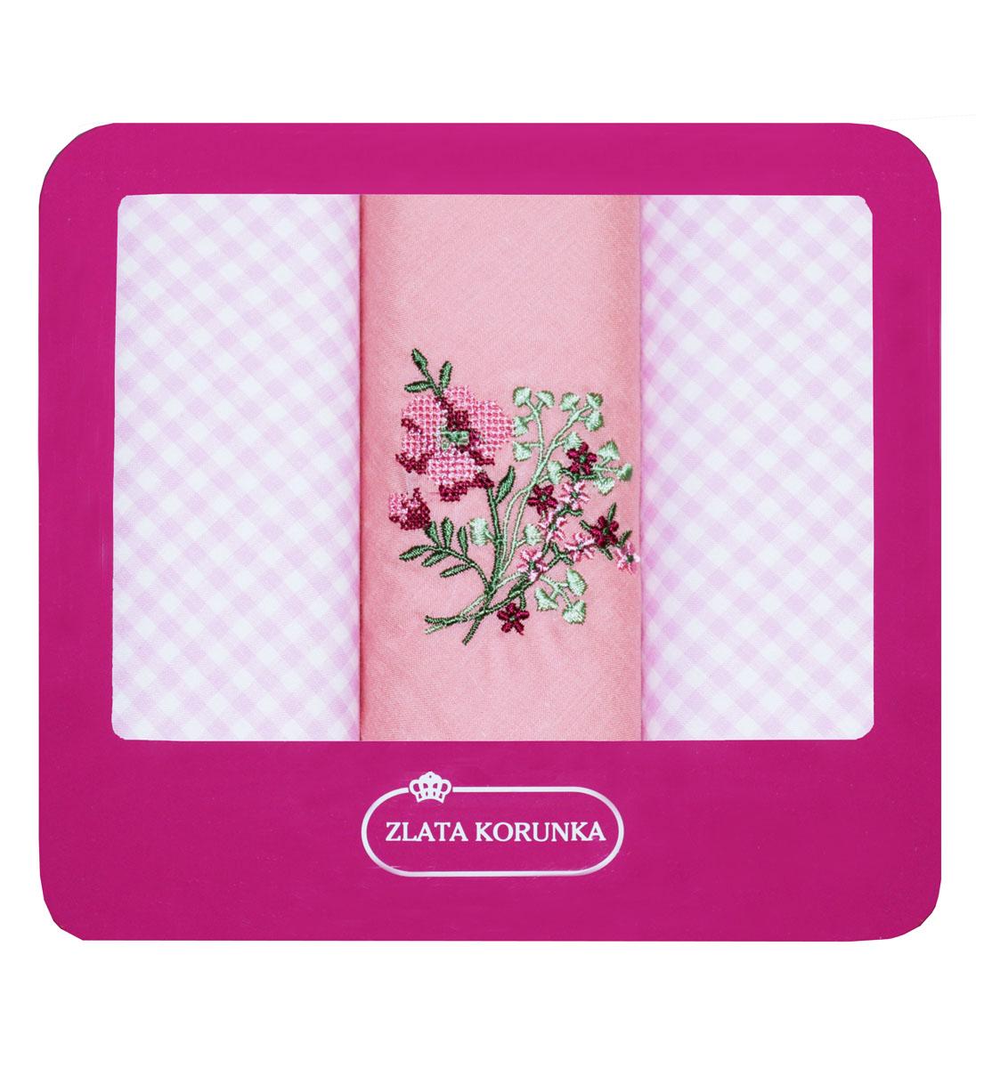 Платок носовой женский Zlata Korunka, цвет: розовый, 3 шт. 90330-13. Размер 29 см х 29 см90330-13Небольшой женский носовой платок Zlata Korunka изготовлен из высококачественного натурального хлопка, благодаря чему приятен в использовании, хорошо стирается, не садится и отлично впитывает влагу. Практичный и изящный носовой платок будет незаменим в повседневной жизни любого современного человека. Такой платок послужит стильным аксессуаром и подчеркнет ваше превосходное чувство вкуса. В комплекте 3 платка.