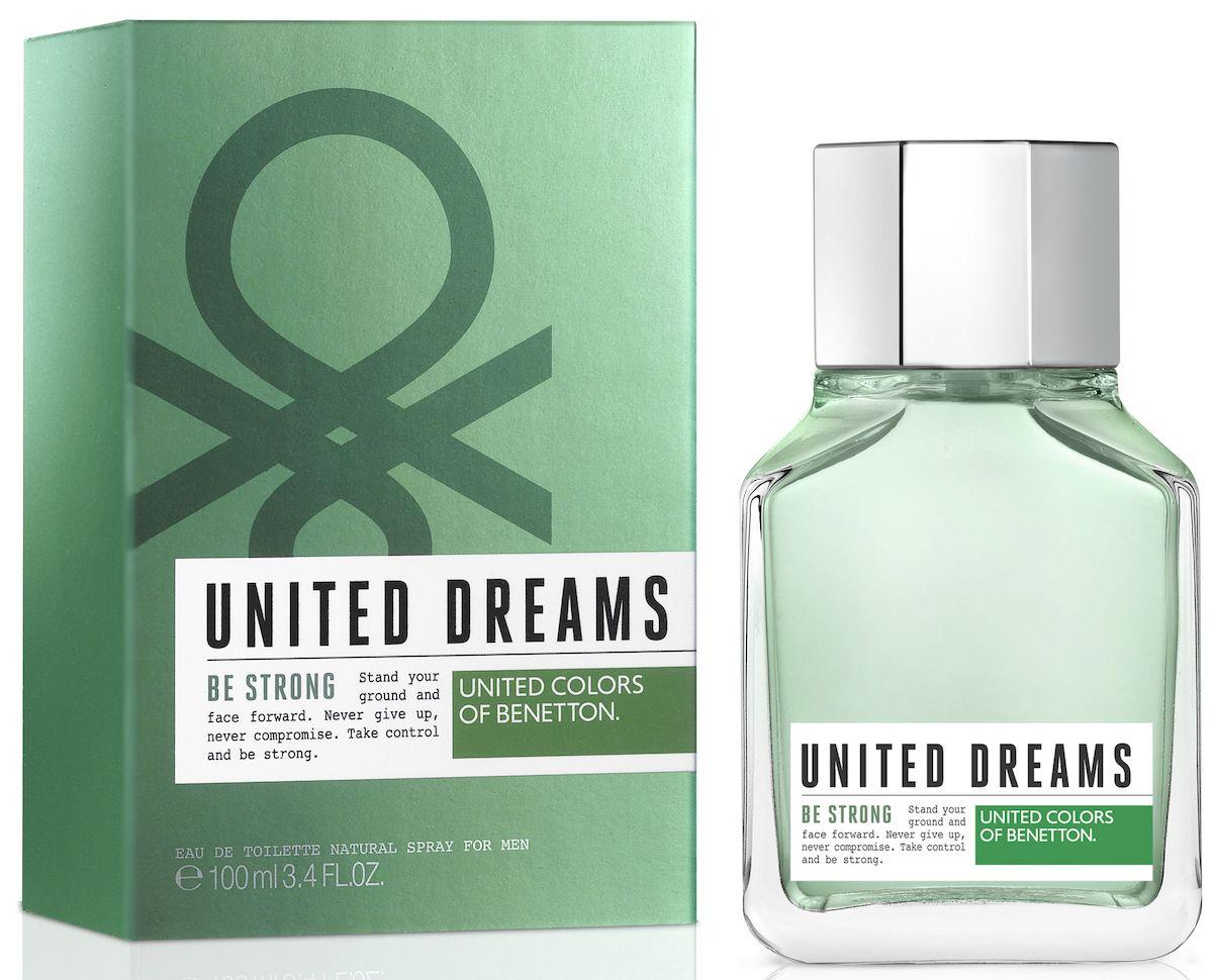 Benetton UD BE STRONG Туалетная вода, мужская, 100 мл65102233United Dreams запускает мужскую коллекцию. Три аромата для тех, кто верит в силу мечты, как в движущую силу будущих перемен. Go Far, Be Strong и Aim High: три аромата, которые составляют коллекцию и вдохновляют концепцию преследования мечты до тех пор, по