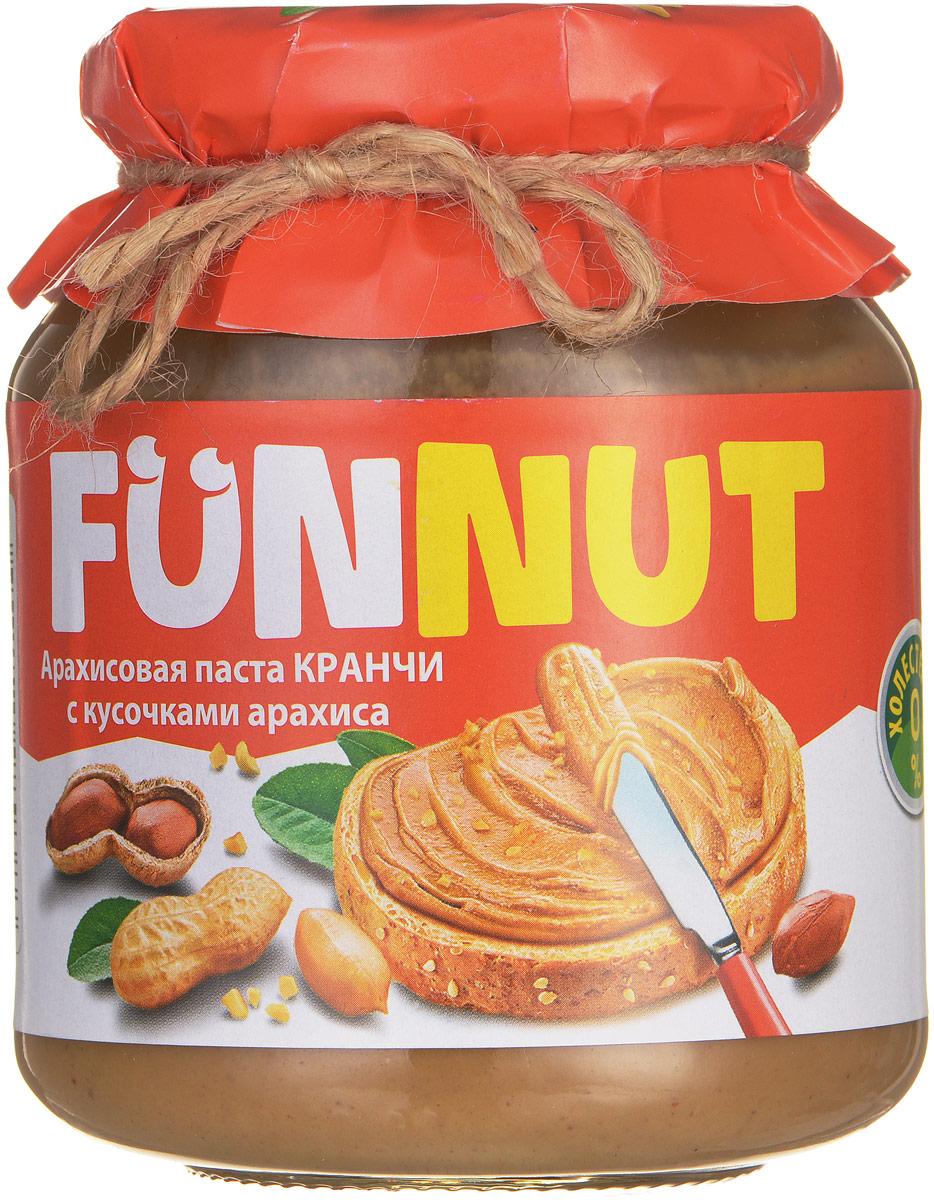 Funnut арахисовая паста Кранчи, 340 г4607125989386Арахисовая паста Funnut подходит тем, кто следит за своим здоровьем. Паста производится по уникальной рецептуре. Секрет ее вкуса заключается в натуральности всех ингредиентов, отсутствием в составе холестерина, транс-жиров и вредных насыщенных жиров. Вся продукция прошла лабораторные и бактериологические исследования.
