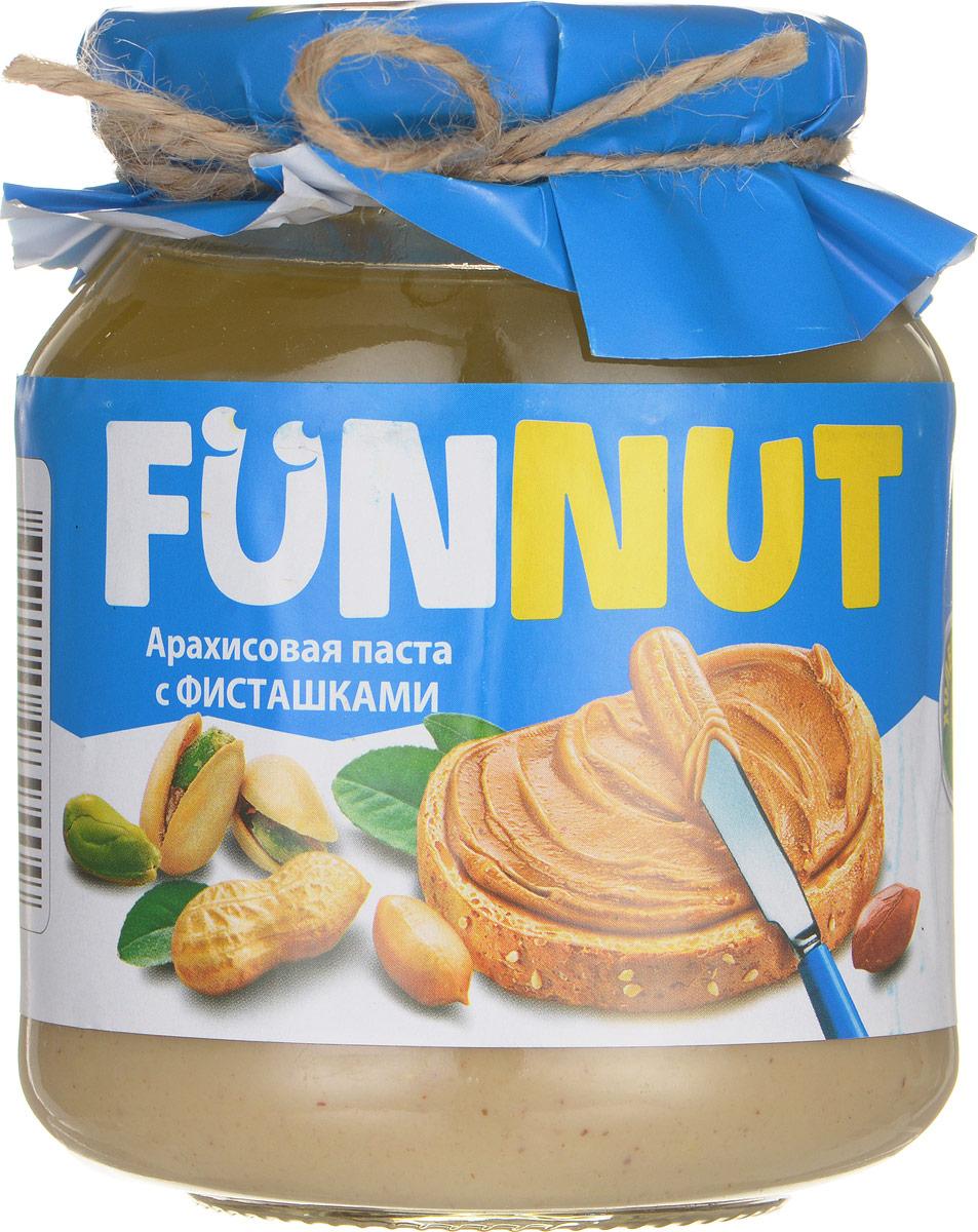 Funnut арахисовая паста с фисташками, 340 г0120710Арахисовая паста Funnut подходит тем, кто следит за своим здоровьем. Паста производится по уникальной рецептуре. Секрет ее вкуса заключается в натуральности всех ингредиентов, отсутствием в составе холестерина, транс-жиров и вредных насыщенных жиров. Вся продукция прошла лабораторные и бактериологические исследования.