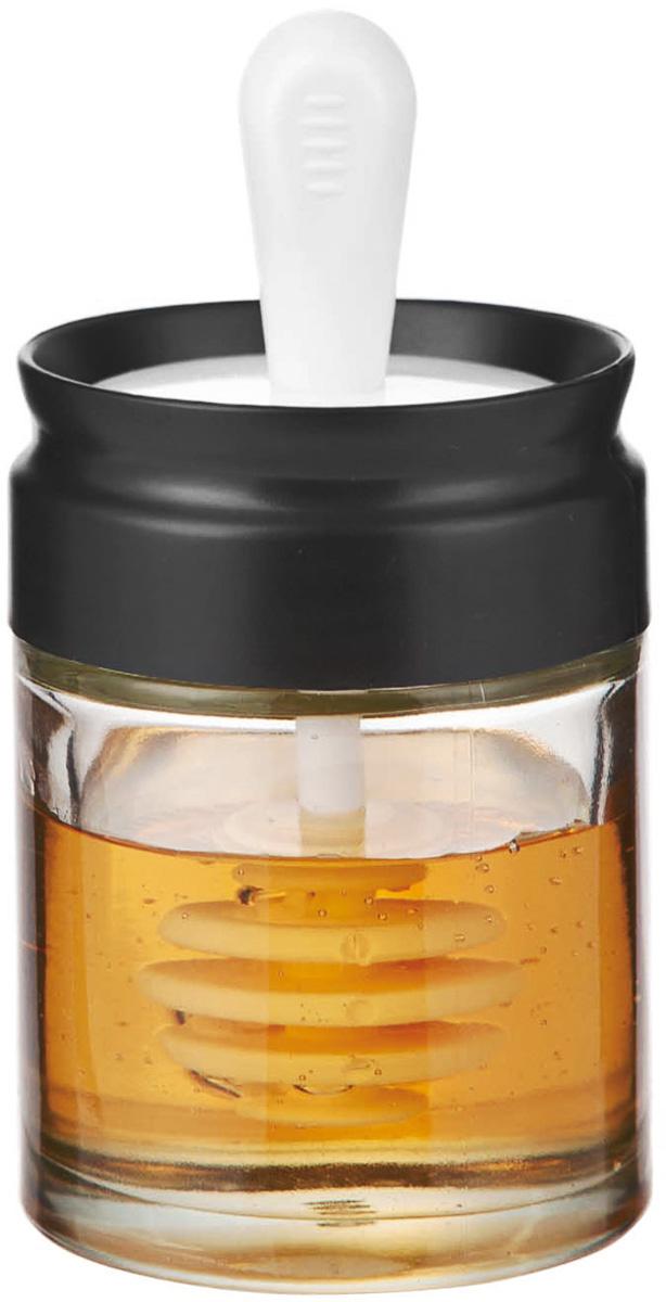 Банка для меда и сиропа SinoGlass, с ложкой, 110 мл115610Банка для меда и сиропа SinoGlass выполнена из прочного стекла и снабжена специальной крышкой, которая плотно устанавливается благодаря силиконовой прослойке. Крышка имеет специальную ложку-веретено, которая очень удобна для порциона меда или сиропа. Благодаря уникальной форме мед не растекается, и ваш стол всегда будет чистым. Такая банка станет практичным приобретением для кухни, а благодаря качеству исполнения прослужит вам долгие годы. Диаметр банки: 6 см. Высота банки: 8 см.