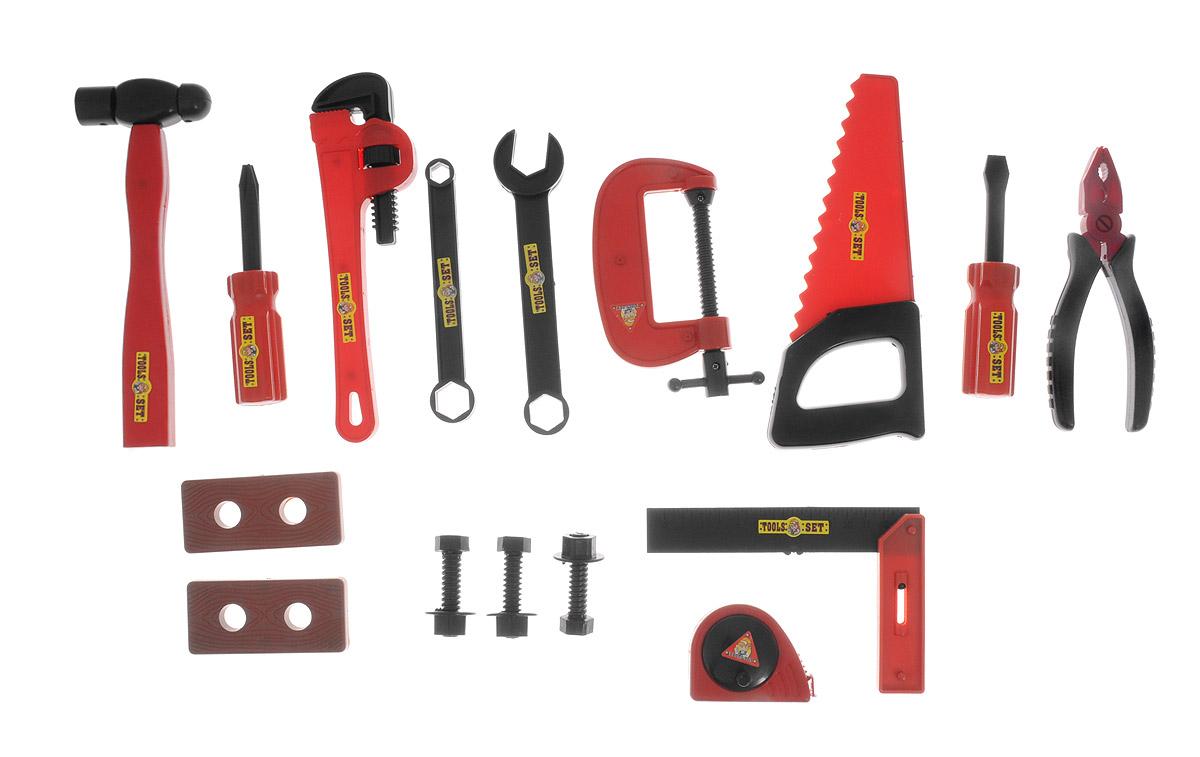 Подробнее о ABtoys Игрушечный набор инструментов цвет красный черный 19 предметов abtoys игрушечный набор инструментов 26 предметов