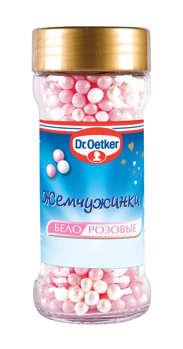 Dr.Oetker жемчужинки бело-розовые, 42 г1-84-010240Жемчужинки Dr.Oetker подходят для украшения выпечки, тортов, мороженого и десертов. Любые десерты - кремы, муссы, мороженое и готовые кексы - станут настоящими произведениями искусства с декоративными украшениями от Dr.Oetker.