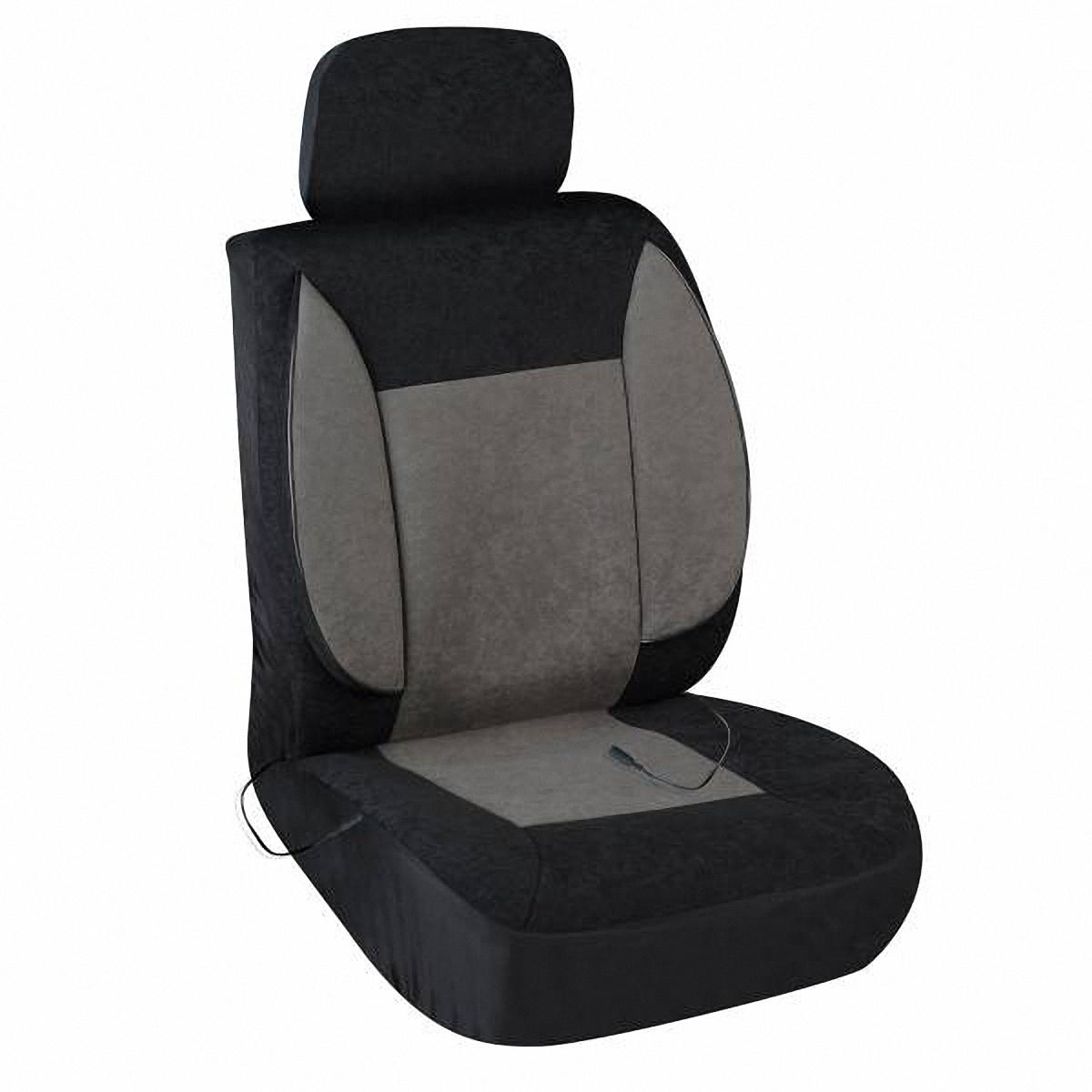 Чехол на сиденье Skyway, с подогревом. S02202006S02202006Чехол на сиденье Skyway, изготовленный из велюра, снижает усталость при управлении автомобилем и обеспечивает комфортное вождение в холодное время года. Подогрев сиденья с терморегулятором (2 режима). В качестве теплоносителя применяется углеродный материал. Такой нагреватель обладает феноменальной гибкостью и прочностью на разрыв в отличие от аналогов, изготовленных из медного или иного металлического провода. Устройство подключается к прикуривателю на 12V. Размер чехла: 116 х 56 см.