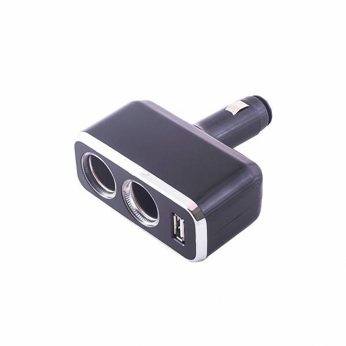 Skyway Разветвитель прикуривателя 2 гнезда + USB. S02301021S02301021Количество гнёзд: 2 Количество USB-портов: 1 Устройство вращается на 180°, вверх и вниз. Устройство используется при мощности 7А. Общая мощность 80 Ватт Предохранитель 5 А. Потребляемая мощность 12 - 24 В