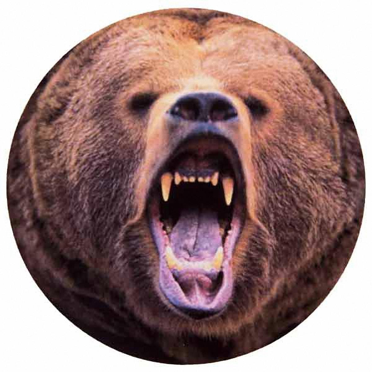 Чехол на запасное колесо Skyway Медведь, диаметр 67 смS06301013Чехол Skyway Медведь обеспечивает защиту запасного колеса автомобиля от загрязнений, прямых солнечных лучей, воздействия воды, посторонних предметов, агрессивных сред и других негативных факторов. Чехол изготовлен из прочной экокожи, которая легко моется и надолго сохраняет внешний вид. Чехол оформлен оригинальным изображением медведя и снабжен резинкой для легкого надевания. Благодаря чехлу, колесо сохранит свой внешний вид и характеристики. Размер колеса: R16, 17. Диаметр чехла: 67 см.