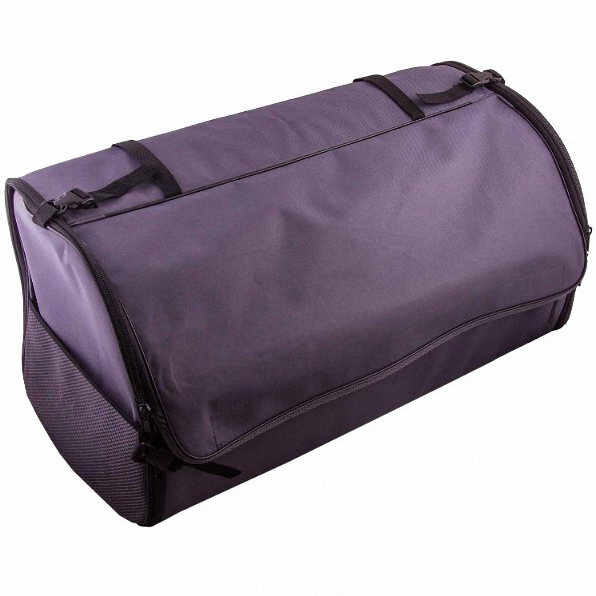 Органайзер автомобильный Skyway, в багажник, цвет: серый, 60 х 30 х 30 смMF-6W-12/230Органайзер Skyway используется в багажнике для хранения различных вещей и мелких предметов, позволит вам компактно разместить все необходимые инструменты и аксессуары. Также может использоваться в качестве обычной сумки. Изготовлен из материала оксфорд. Материал очень прочный, устойчив к химическим веществам, долговечный и непромокаемый. Органайзер имеет боковые карманы-сетки, крышку на липучке и два больших кармана.