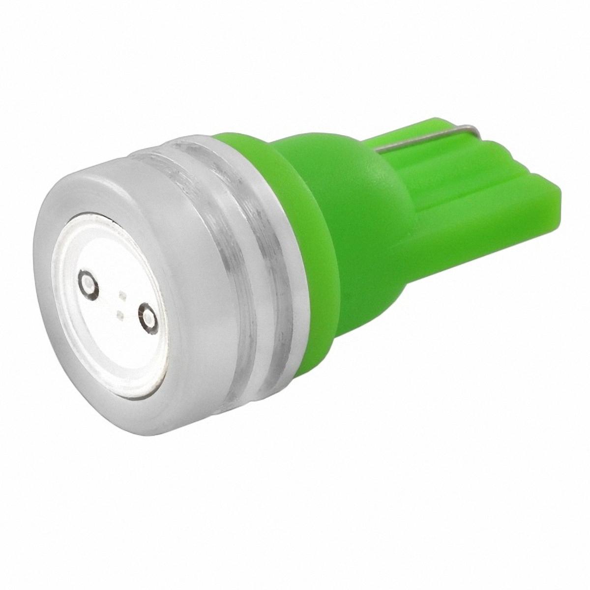 Skyway Автолампа диод T10 (W5W). ST10HP-1W(G)ST10HP-1W(G)1 SMD диод EXTRA LIGHT без цоколя радиатор 1-контактная Зеленая