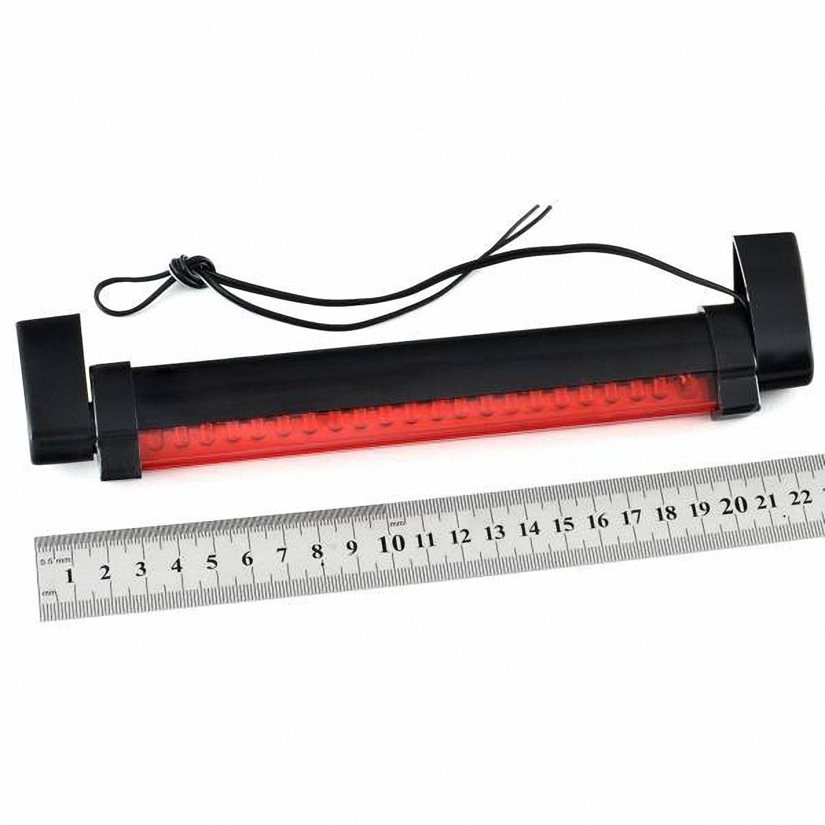 Стоп-сигнал дополнительный Skyway, 24 светодиодаSTB-24LEDBДополнительный светодиодный стоп-сигнал устанавливается в штатное место крышки багажника. Он дублирует основные стоп-сигналы, что положительно сказывается на безопасности движения. Корпус затонирован, но при этом не влияет на светотехнические характеристики стоп-сигнала. В отличие от обычных ламп накаливания, светодиоды служат в несколько раз дольше, кроме того обеспечивая более высокую яркость свечения. Установка не требует специальных навыков и может быть осуществлена своими силами. Преимущества: -простота установки -повышение активной безопасности движения -продолжительный срок службы Напряжение: 12В.