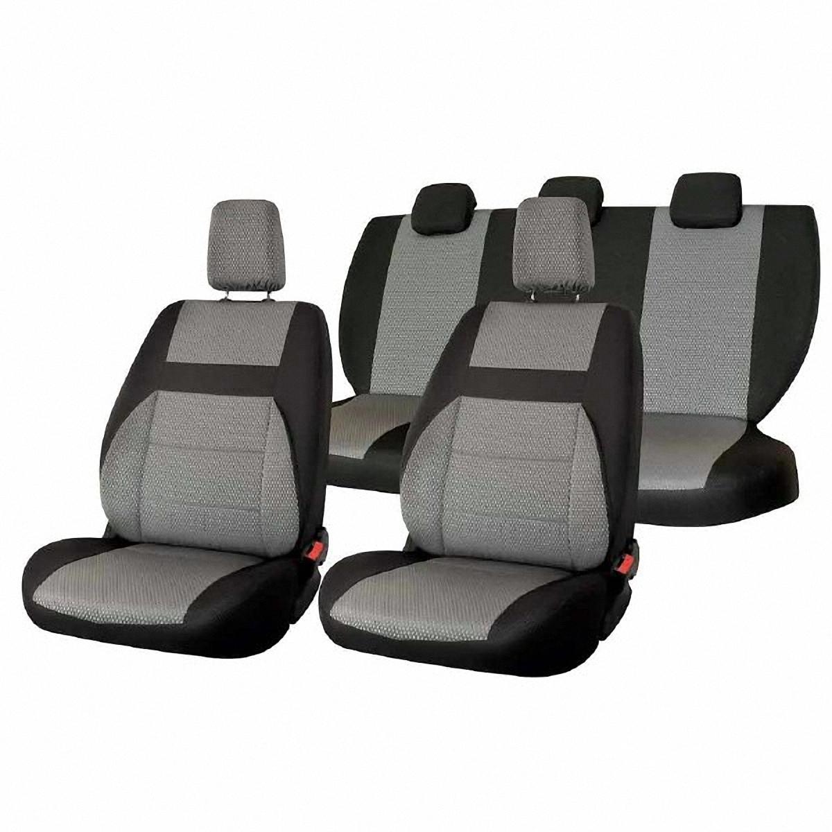 Чехлы автомобильные Skyway, для Lada Granta, цвет: светло-серыйV004-D1Автомобильные чехлы Skyway изготовлены из качественного жаккарда. Чехлы идеально повторяют штатную форму сидений и выглядят как оригинальная обивка сидений. Разработаны индивидуально для каждой модели автомобиля. Авточехлы Skyway просты в уходе - загрязнения легко удаляются влажной тканью. Чехлы имеют раздельную схему надевания. Заднее сиденье - сплошное. В комплекте 11 предметов.