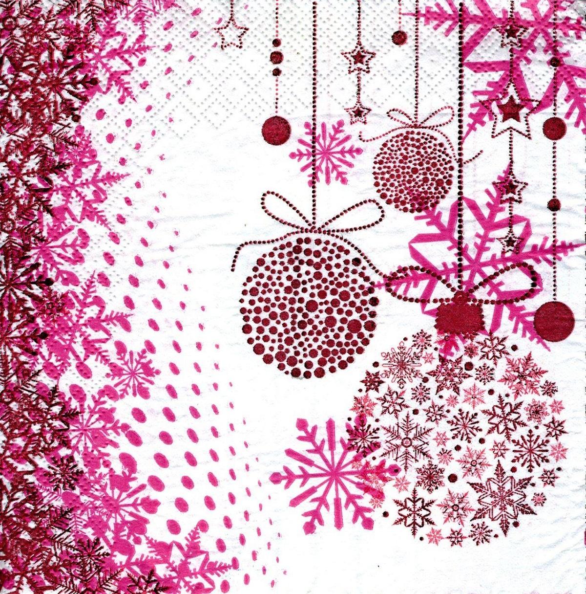 Салфетки бумажные Gratias Новогодние шары, трехслойные, 33 х 33 см, 20 шт90564Для бытового и санитарно-гигиенического назначения одноразового использования.