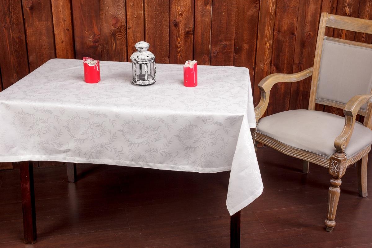 Скатерть Гаврилов-Ямский Лен, 140x180 см. 1со58781со5878Нарядная белая скатерть из вискозы с хлопком. Актуальная классика! Придаст праздничный вид любому столу! Поскольку ткань скатерти не содержит искуственных волокон - её можно отбеливать и стирать при высокой температуре.