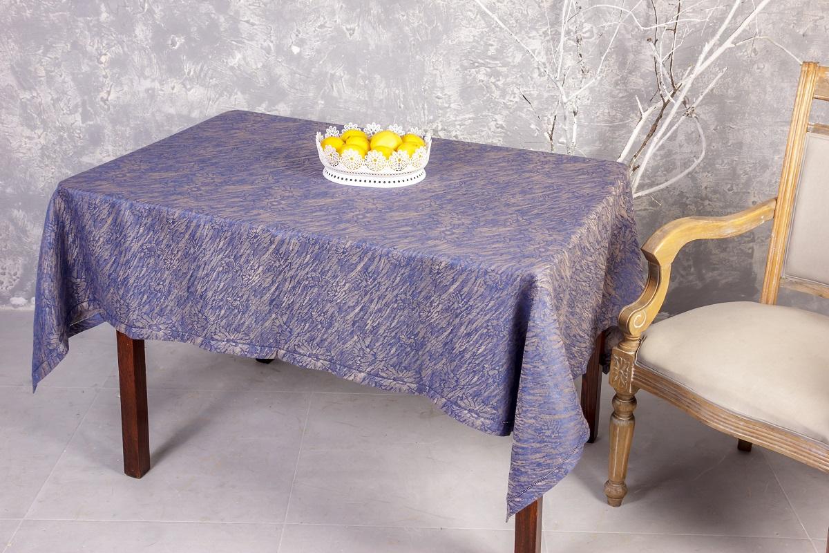 Скатерть Гаврилов-Ямский Лен, прямоугольная, цвет: синий, бежевый, 140 x 180 см. 6со63636со6363Скатерть Гаврилов-Ямский Лен, выполненная из 100% льна, станет украшением любого стола. Лен - поистине, уникальный экологически чистый материал. Изделия из льна обладают уникальными потребительскими свойствами. Такая скатерть порадует вас невероятно долгим сроком службы. Скатерть Гаврилов-Ямский Лен - незаменимая вещь при сервировке стола.